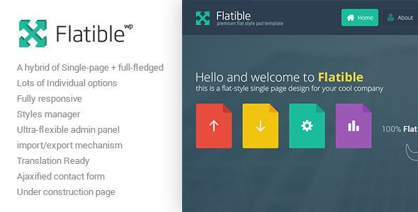 ThemeForest Flatible Single Page WordPress Theme 6602585