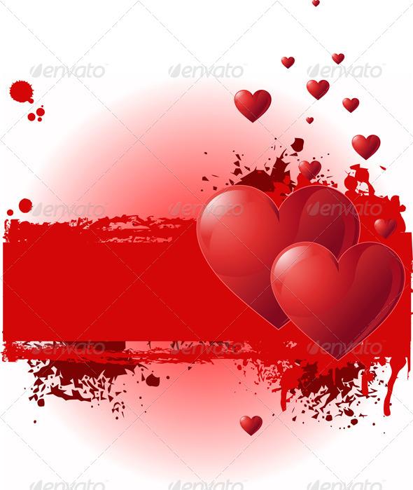 GraphicRiver Valentine Grunge Banner 6602637