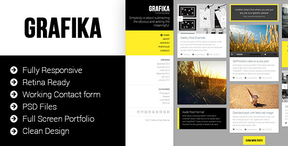 ThemeForest Grafika Photography & Blog HTML Template 6602665