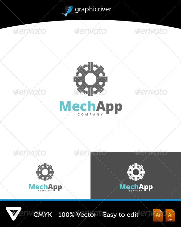 GraphicRiver MechApp Logo 6602711