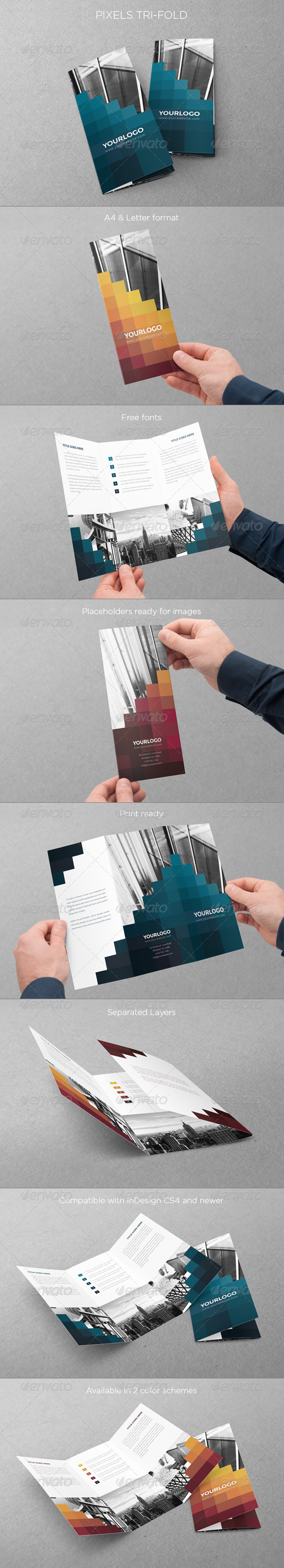 GraphicRiver Pixels Trifold 6602713