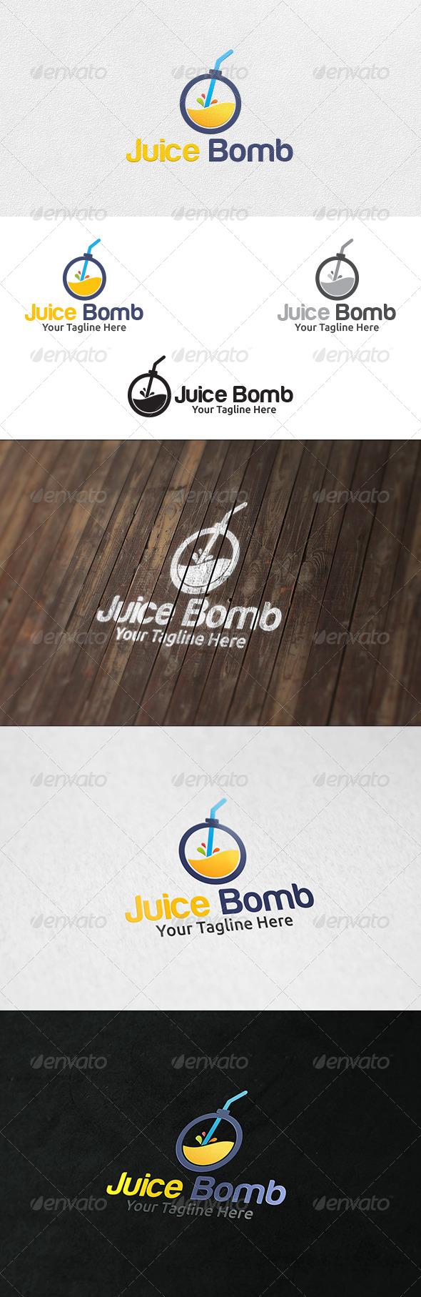 GraphicRiver Juice Bomb Logo Template 6602764