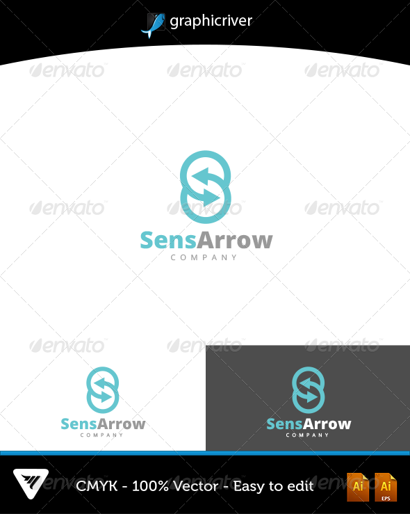 GraphicRiver SensArrow Logo 6602767