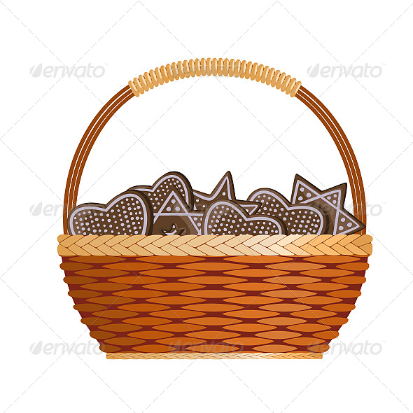 GraphicRiver Basket with Ginger Cakes 6602884