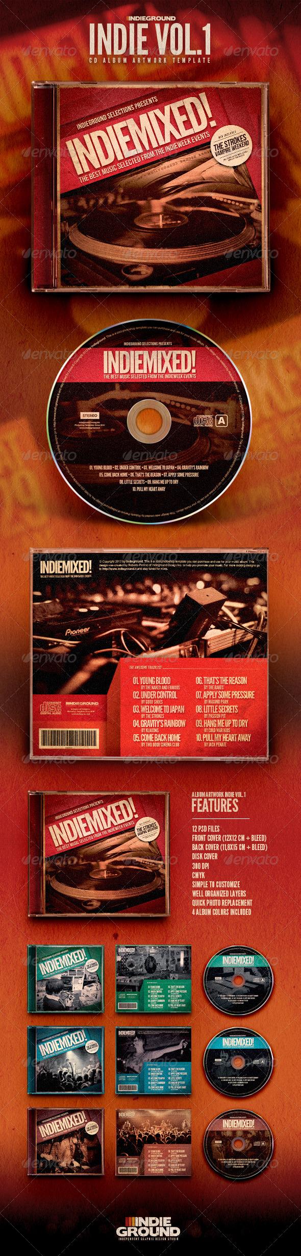 GraphicRiver Indie CD Album Artwork 6602887