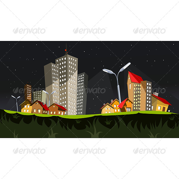 GraphicRiver City in the Night 6603102
