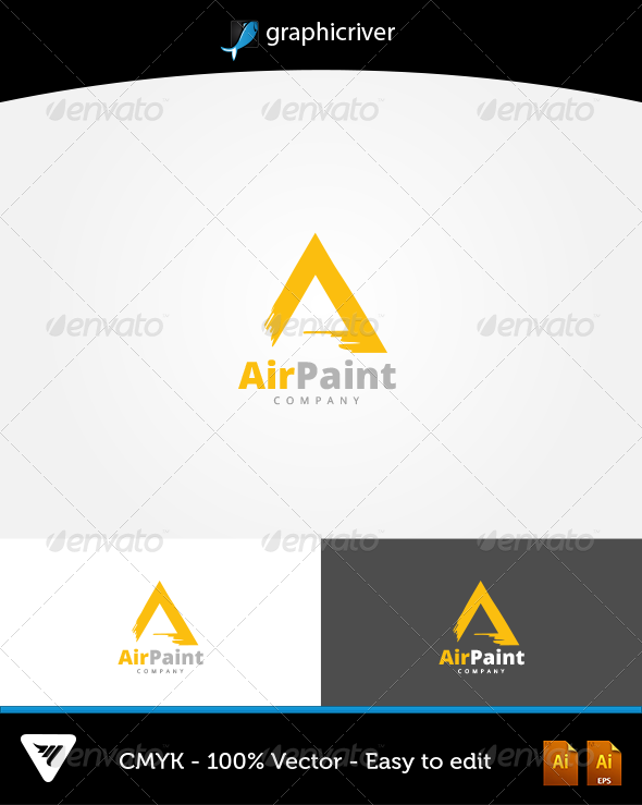 GraphicRiver AirPaint Logo 6603123
