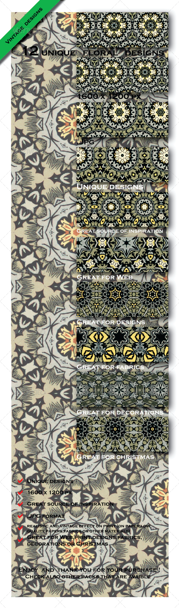 GraphicRiver 12 Gift Paper Model Patterns 6603259