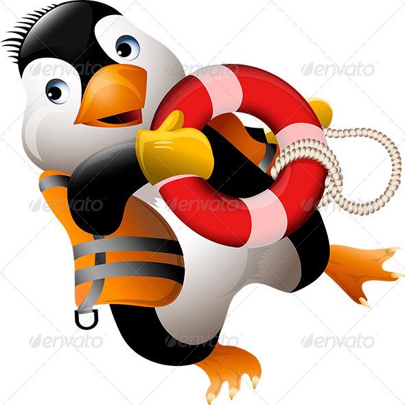 GraphicRiver Penguin Lifeguard 6603275