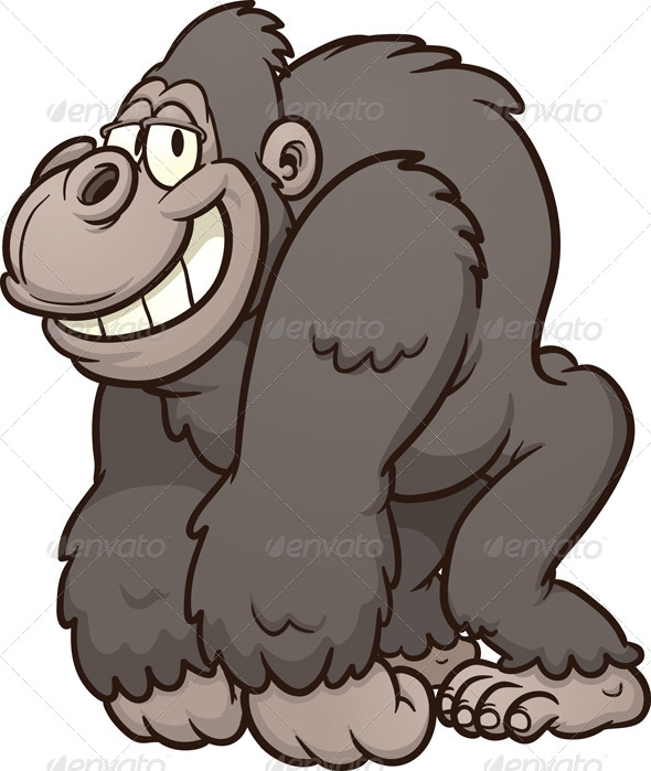 GraphicRiver Cartoon Gorilla 6603319