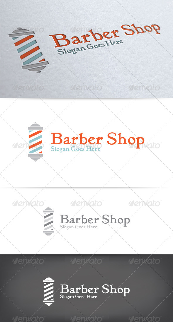 GraphicRiver Old Fashioned Barber Shop Logo 6603310