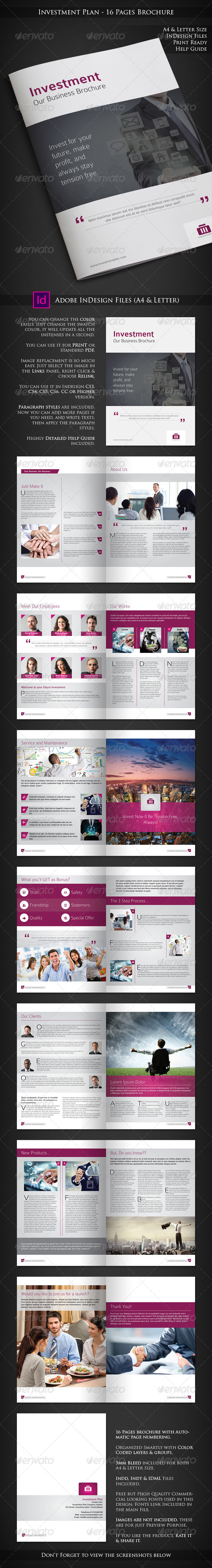 Investment Plan - 16 Pages Business Brochure - Corporate Brochures
