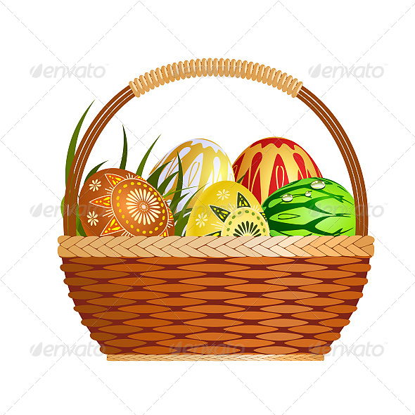 GraphicRiver Basket with Easter Eggs 6603463