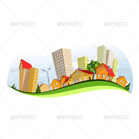 GraphicRiver Colorful Vector City 6603471