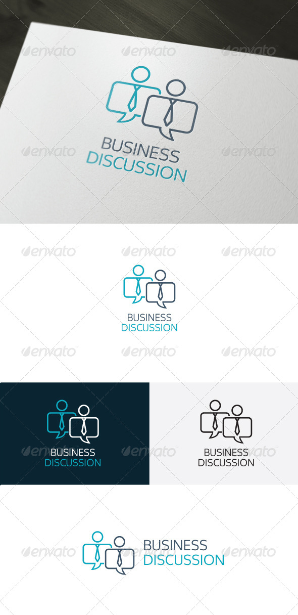 GraphicRiver Business Discussion Logo 6596803