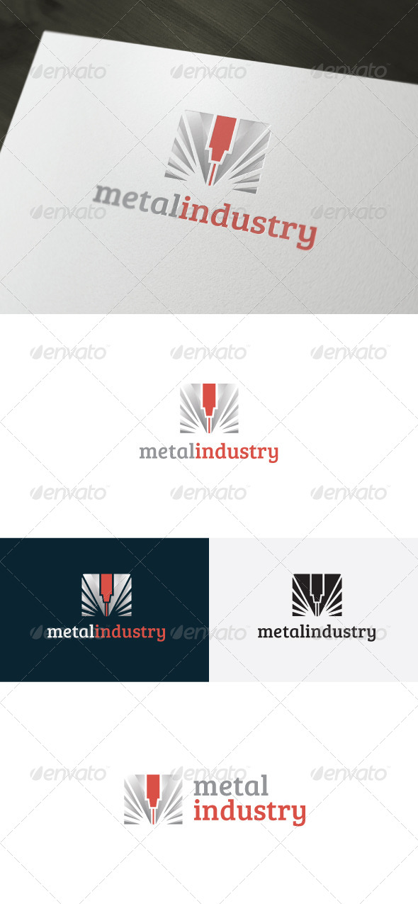 GraphicRiver Metal Industry Logo 6603582