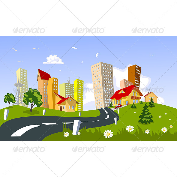 GraphicRiver Vector City 6603626