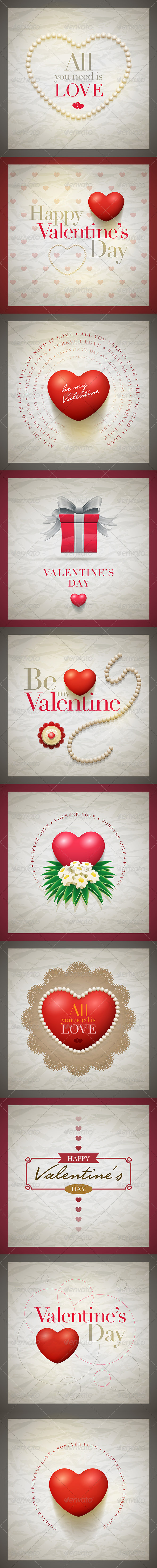 GraphicRiver Valentine Card Collection 6603665