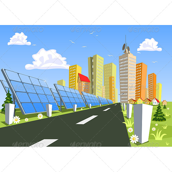 GraphicRiver City and Solar Power Technology 6603710