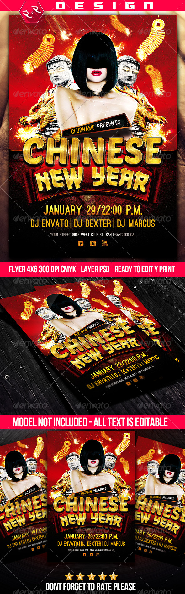 GraphicRiver Chinese New Year Flyer Template 6593270