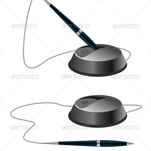 Illustration of Two Pens