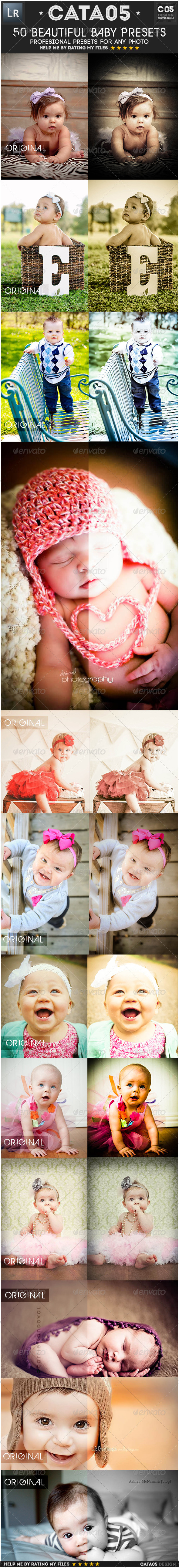 GraphicRiver 50 Beautiful Baby Presets 6603787
