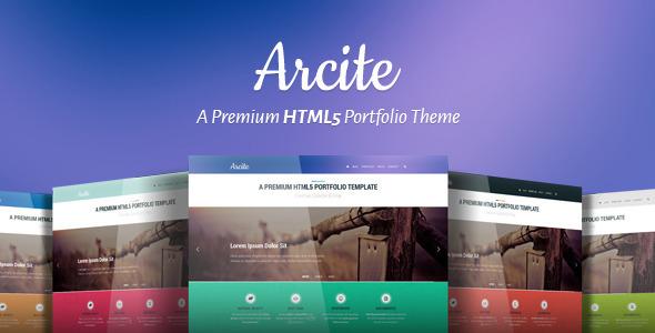 Arcite   Almost Flat HTML5 Portfolio Template (Portfolio) images