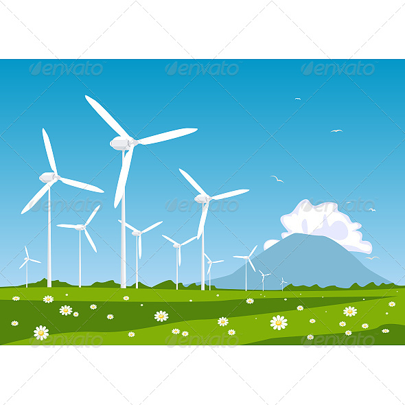 GraphicRiver Wind Turbine 6603812