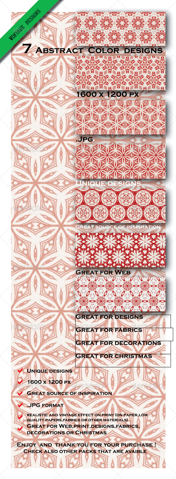 7 Abstract Gift Paper Designs