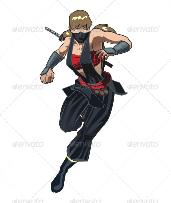 GraphicRiver Ninja Girl 6579209