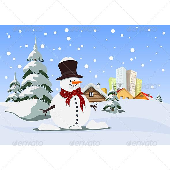 GraphicRiver Snowman 6603969