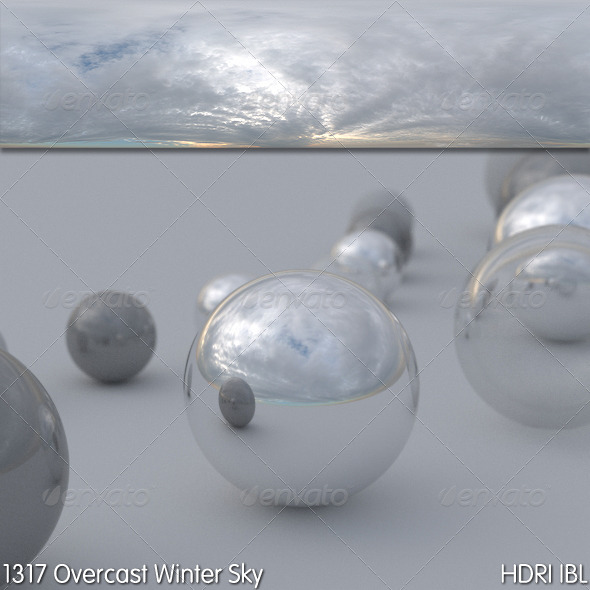 HDRI IBL 1317 Overcast Winter Sky - 3DOcean Item for Sale
