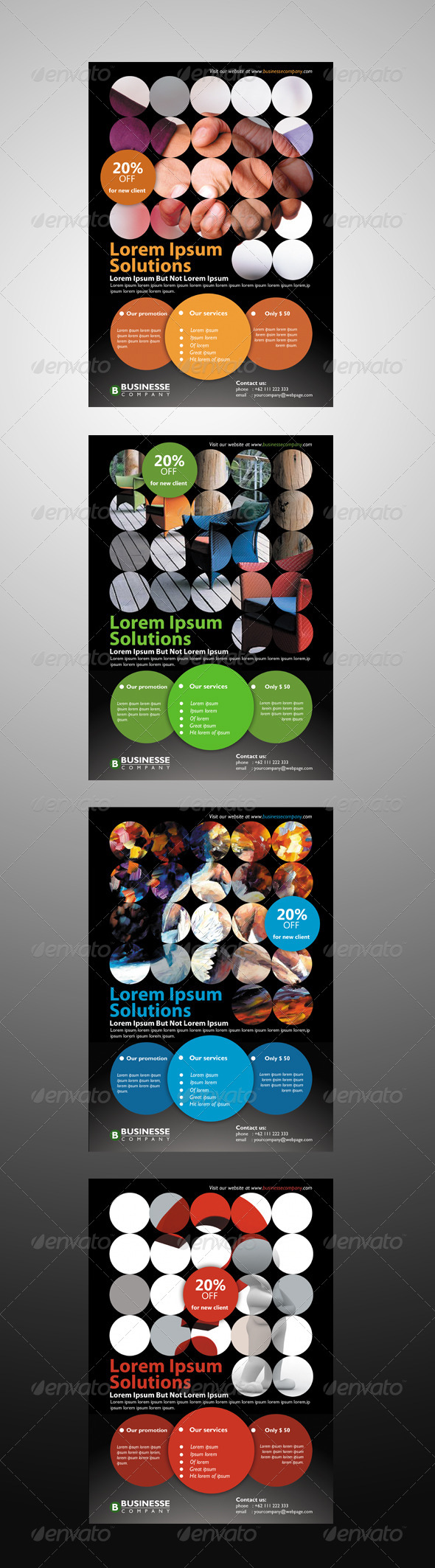 GraphicRiver Circles Corporate Flyer 6604190