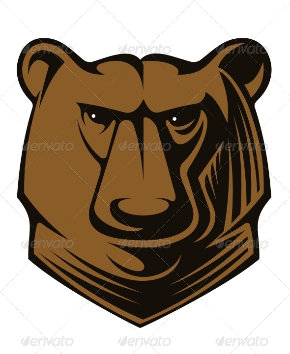 GraphicRiver Big Brown Bear Head 6604224