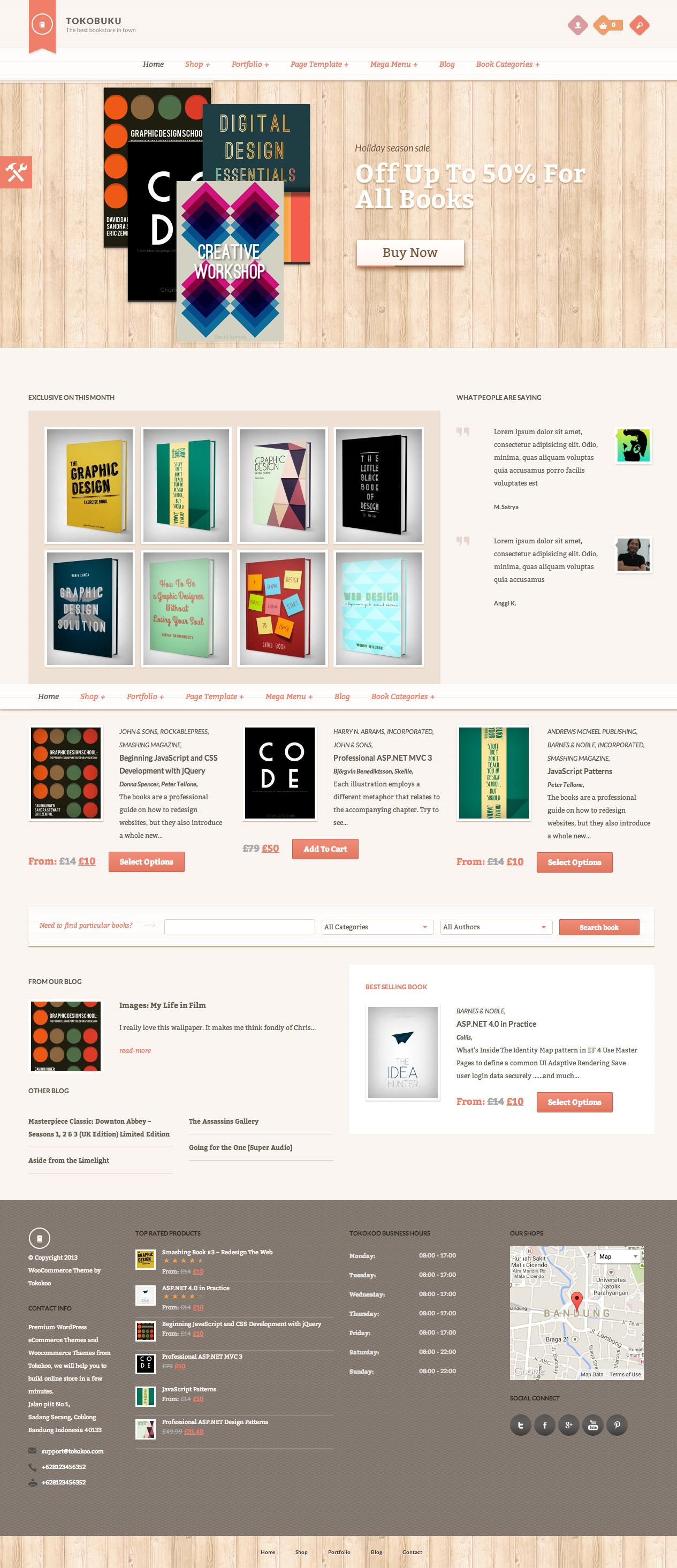 Raakbookoo - Woocommerce Theme For Book Store