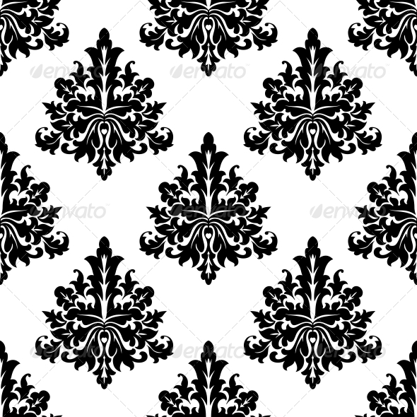 GraphicRiver Seamless Damask Style Floral Wallpaper 6604290
