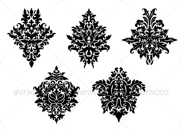 Set of Foliate Arabesques