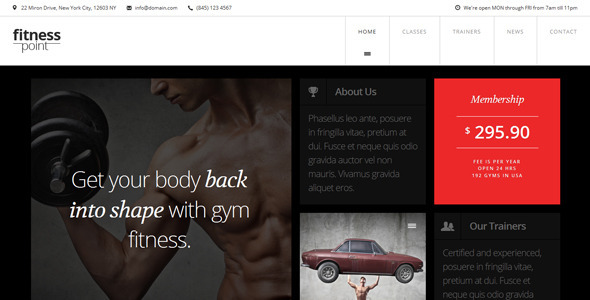 FitnessPoint – Gym Responsive Retina One-Page (Business) images