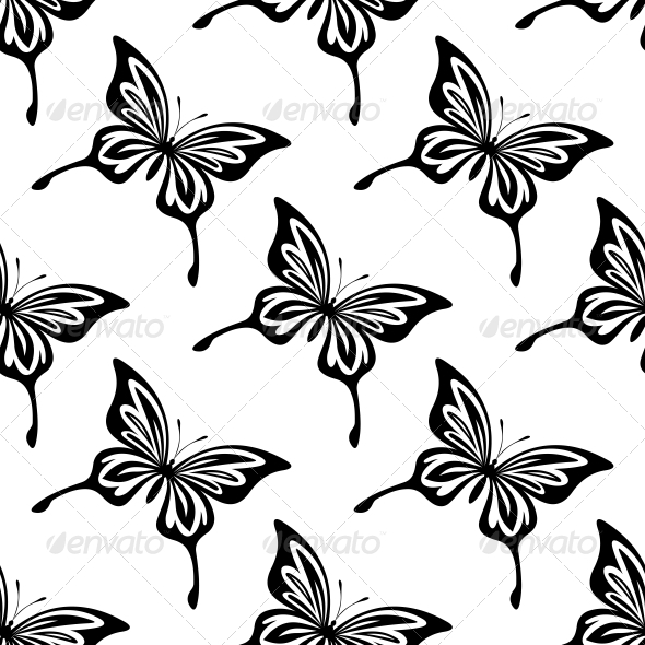 GraphicRiver Seamless Pattern of Butterflies 6605044