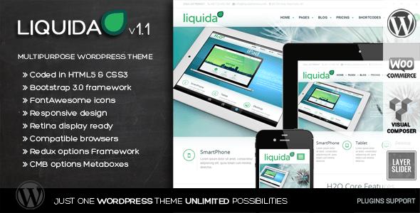 ThemeForest Liquida Responsive MultiPurpose WordPress Theme 6453676