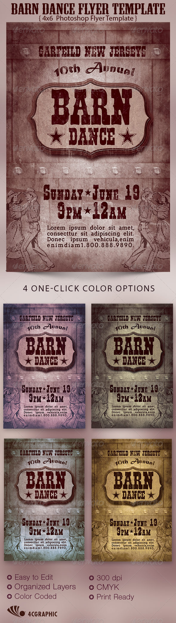 GraphicRiver Barn Dance Flyer Template 6605112