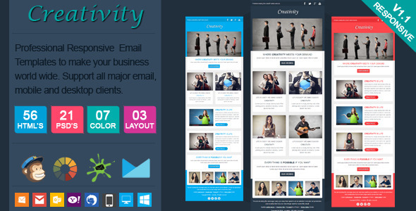 ThemeForest Creativity Clean Responsive Email Template 6605230