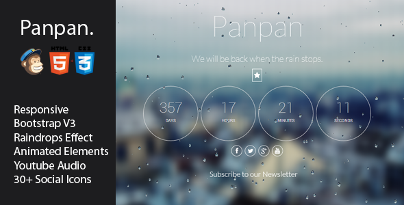 Panpan - Responsive Coming Soon Template