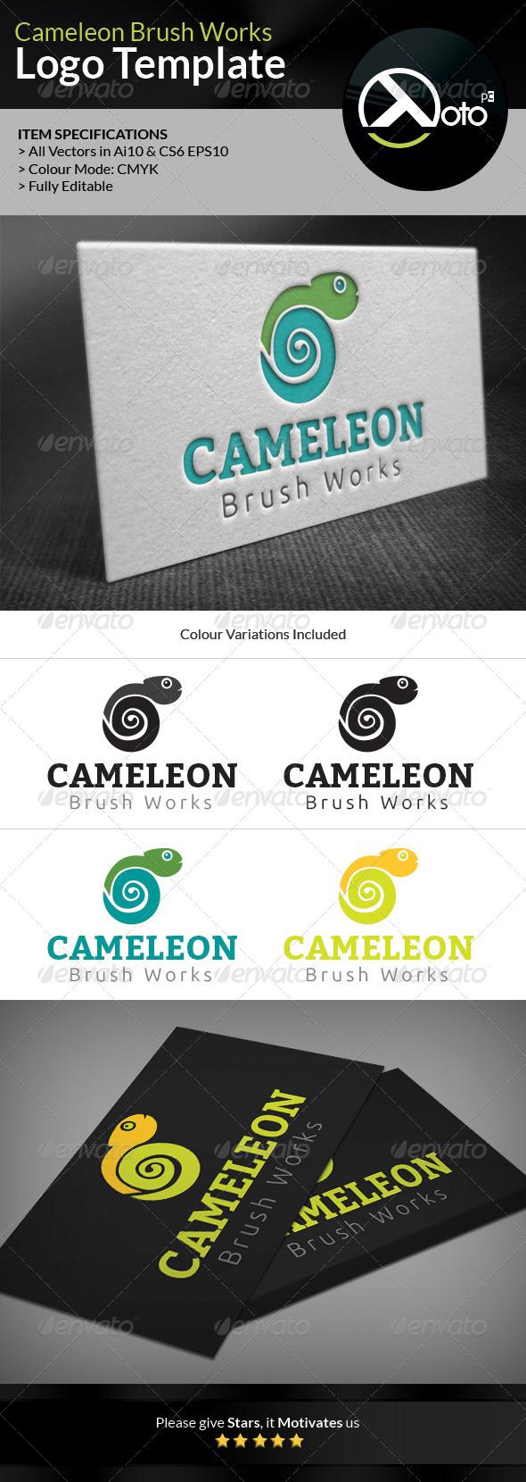 GraphicRiver Cameleon Brush Works Logo 6605312