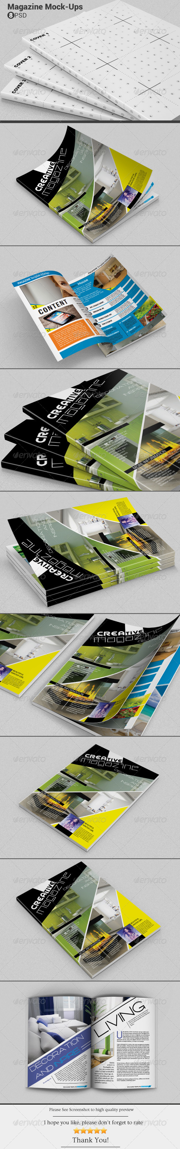 GraphicRiver Magazine Mockups 6605414