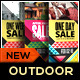 Holiday Sale Billboard Roll-Up Outdoor Banner - GraphicRiver Item for Sale
