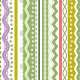 Green Stripes and Laces Seamless Pattern - GraphicRiver Item for Sale