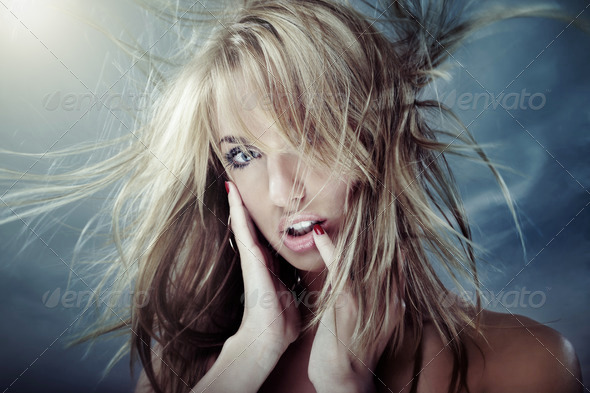 Windy beauty - Stock Photo - Images