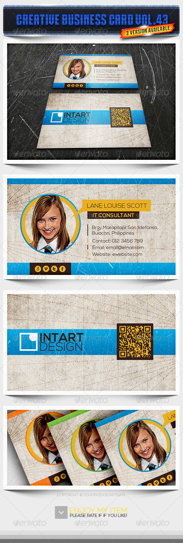 GraphicRiver IntenseArtisan Business Card Vol.43 6605745
