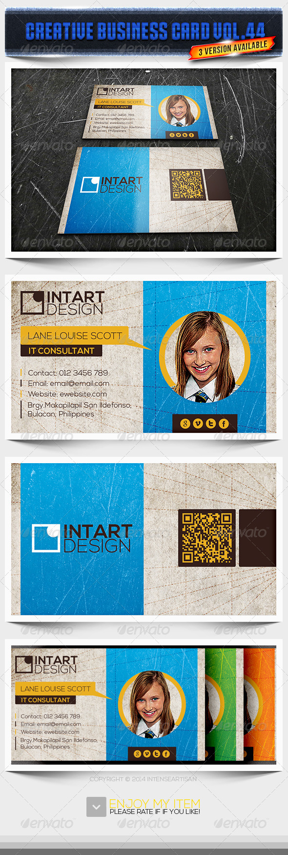 GraphicRiver IntenseArtisan Business Card Vol.44 6605747
